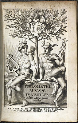 Illustration Of Two Men Under A Tree Poster by British Library