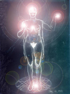 Iluminated Goddess Poster by Stephen Carver