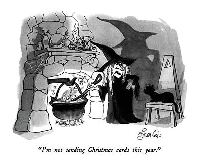 I'm Not Sending Christmas Cards This Year Poster by Edward Frascino