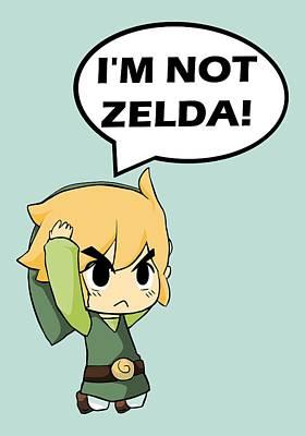 I'm Not Zelda Poster by Danilo Caro