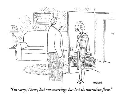 I'm Sorry, Dave, But Our Marriage Has Lost Poster by Robert Mankof