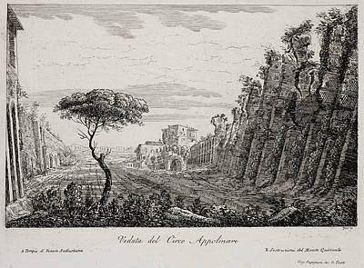 Image Of Italian Countryside Around Rome. Poster