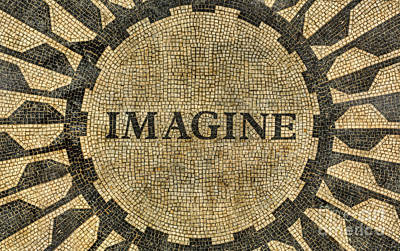 Poster featuring the photograph Imagine - John Lennon by Lee Dos Santos