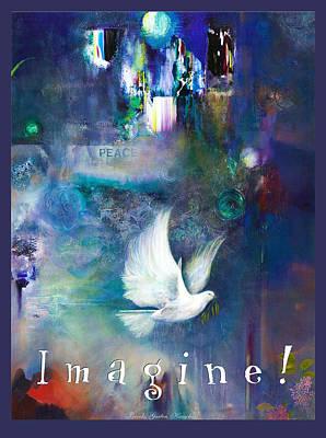Poster featuring the painting Imagine 4 Kids by Brooks Garten Hauschild