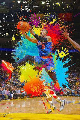 Iman Shumpert Of The New York Knicks Shoots Poster by Don Kuing