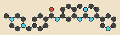 Imatinib Cancer Drug Molecule Poster