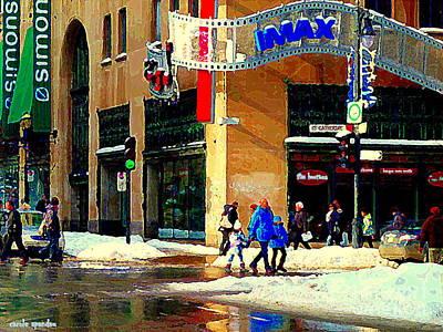 Imax Family Movie Day Cineplex Scotia Bank St Catherine Street Tim Hortons Cafe City Scene  Poster