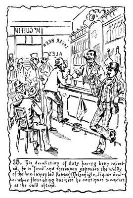 Immigrants: Irish, C1885 Poster