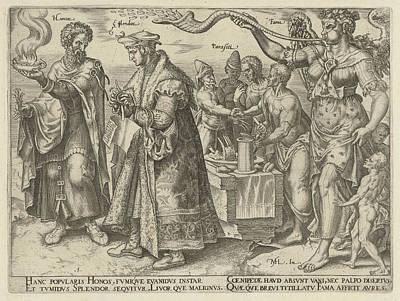 Impact Of Wealth, Philips Galle, Hadrianus Junius Poster