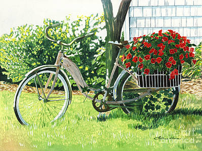 Impatiens To Ride Poster by LeAnne Sowa