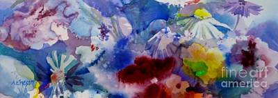 Impression Of  Flowers Poster by Donna Acheson-Juillet