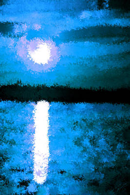 Impressionist Moonlight Poster