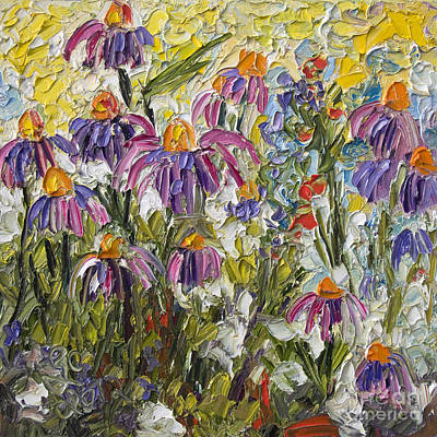 Impressionist Wildflower Patch Oil Painting Poster