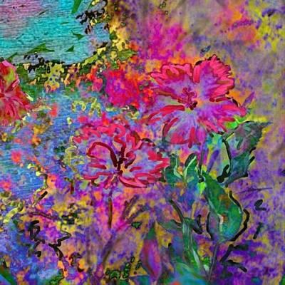 Impressionistic Magenta Hibiscus - Square Poster