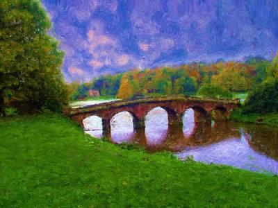 Impressions Of Stourhead Poster by Ron Harpham