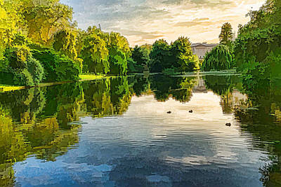 Impressions Of Summer - St James's Park Lake Reflections Poster