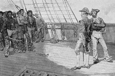 Impressment Of American Seamen, Illustration From Our Countrys Cradle By Thomas Wentworth Poster