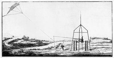 Improvement Of Franklin's Electrical Kite Poster by American Philosophical Society