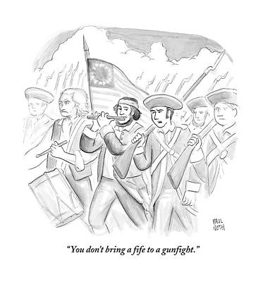 In A Military March Poster by Paul Noth