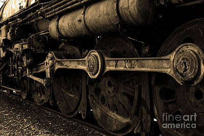 In A Time When Steam Was King 5d25491 V2 Sepia 1 Poster