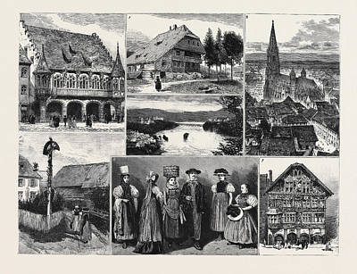In And About The Black Forest 1. The Merchants Hall Poster by English School