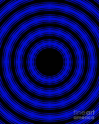In Circles- Blue Version Poster by Roz Abellera Art