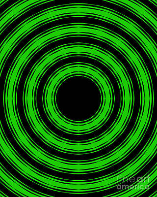In Circles-green Version Poster by Roz Abellera Art
