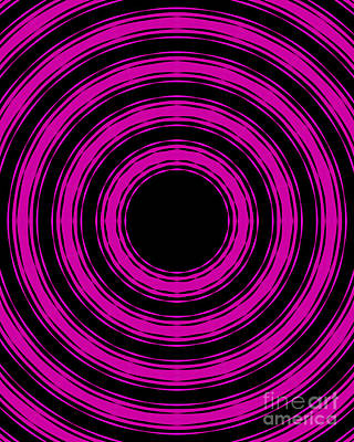 In Circles-pink Version Poster by Roz Abellera Art
