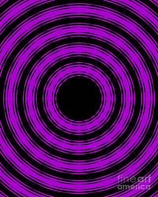 In Circles-purple Version Poster by Roz Abellera Art