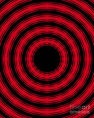 In Circles- Red Version Poster by Roz Abellera Art