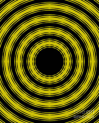In Circles- Yellow Version Poster by Roz Abellera Art