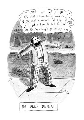 In Deep Denial Oh Poster by Roz Chast