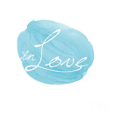 in Love blue Poster by Marion De Lauzun
