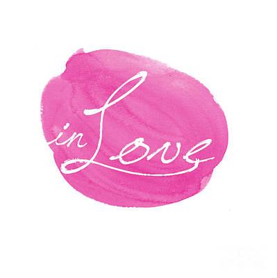 in Love pink Poster by Marion De Lauzun