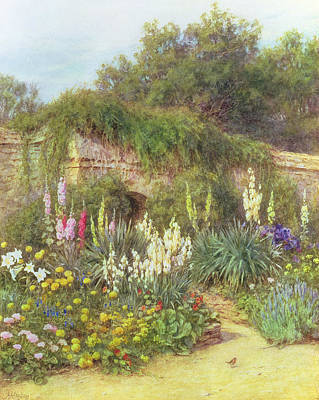 In Munstead Wood Garden Poster by Helen Allingham