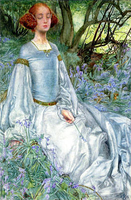 In Spring Time The Only Pretty Ring Time Poster by Eleanor Fortescue Brickdale