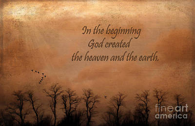 In The Beginning Poster by Darren Fisher