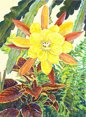 In The Conservatory - 3rd Center - Yellow Poster by Nick Payne
