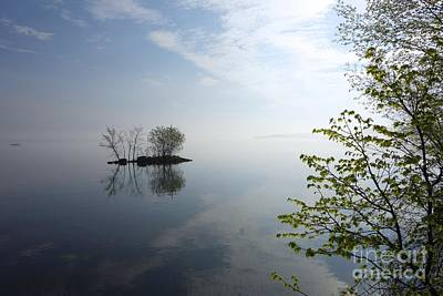 In The Distance On Mille Lacs Lake In Garrison Minnesota Poster