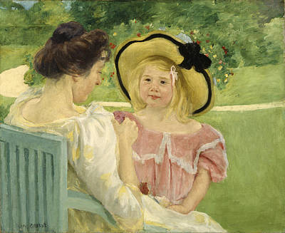 In The Garden Poster by Mary Cassatt
