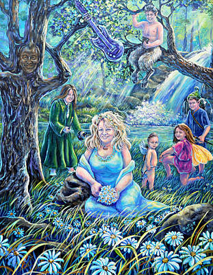 In The Garden Of The Goddess Poster by Gail Butler