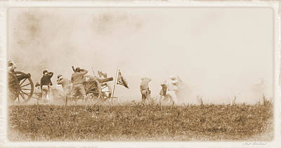 Poster featuring the photograph In The Heat Of Battle by Judi Quelland