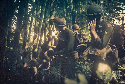 In The Jungle - Vietnam Poster by Edward Fielding