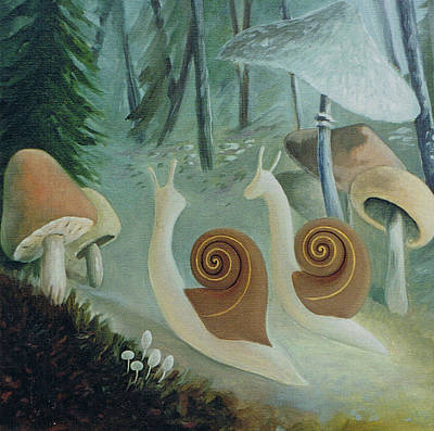 In The Mushroom Forest Poster