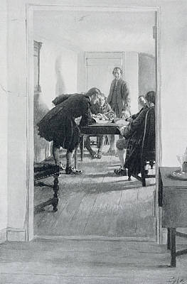 In The Old Raleigh Tavern, Illustration From At Home In Virginia By Woodrow Wilson, Pub. In Harpers Poster
