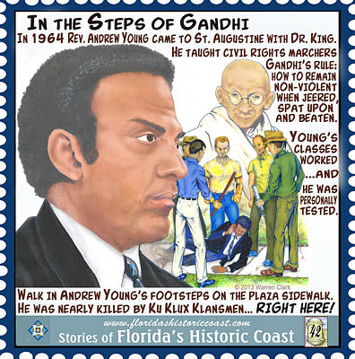 In The Steps Of Gandhi Poster
