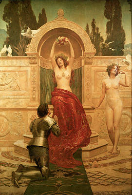 In The Venusburg Poster by The Honourable John Collier