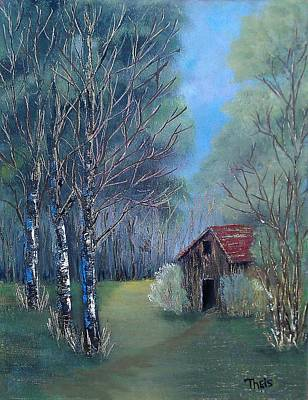 Poster featuring the painting In The Woods by Suzanne Theis