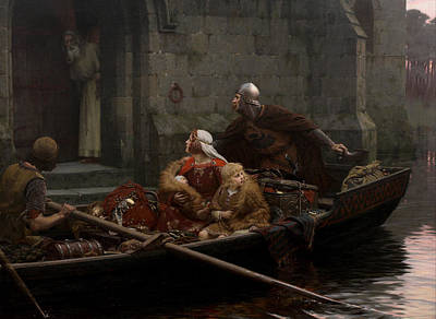In Time Of Peril Poster by Edmund Blair Leighton