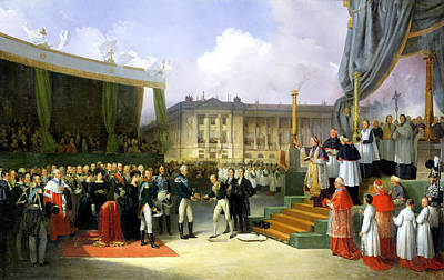 Inauguration Of A Monument In Memory Of Louis Xvi 1754-93 By Charles X 1757-1836 At The Place De La Poster